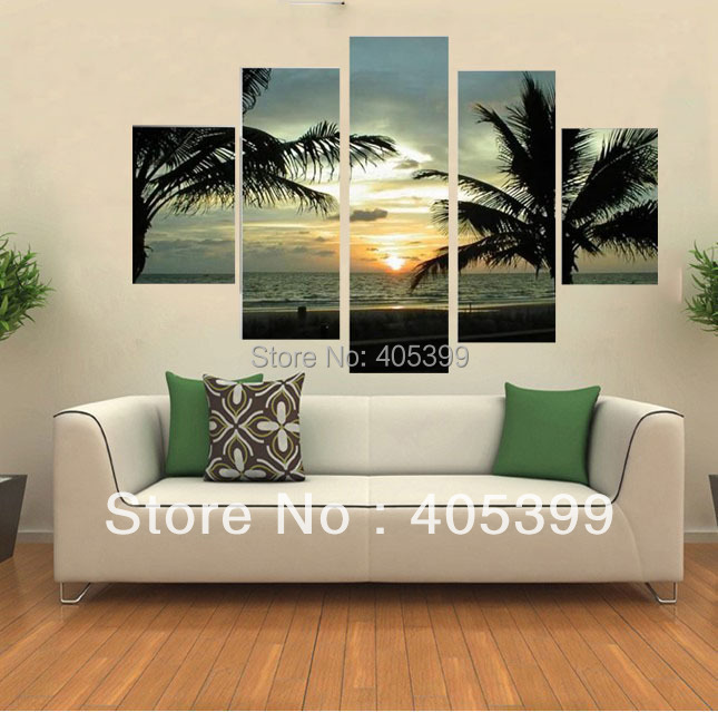 Aliexpress.com : Buy Sunrise Seascape Picture Wall Art Hand Painted Modern  Abstract Oil Painting On Canvas Living Room Decoration Gift No Framed From  ... Part 95