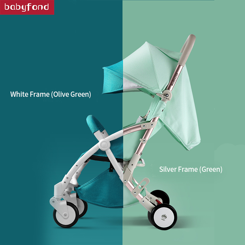 kub Light weight newborn Baby stroller light folding shock absorbers four wheels high quality baby stroller leather handle baby stroller baby stroller shock absorbers light folding stroller 4runner