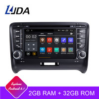 LJDA 2 Din Android 8.1 Car Radio For AUDI TT 2006 2012 2G RAM Car Multimedia Headunit Stereo Auto Audio GPS DVD VIDEO IPS Screen