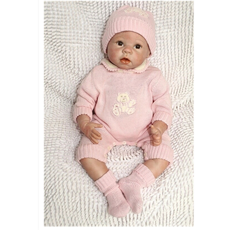 Handmade Silicone Reborn Baby Dolls 20 Inch,Vivid Baby Reborn Doll Real Looking Toy for Children Free Shipping