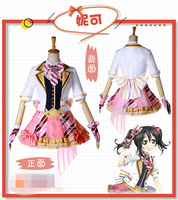 Anime Lovelive! Arcade Game 2 Second Generation All Menber Nico Yazawa Halloween Party Cosplay Costume With Good Quality