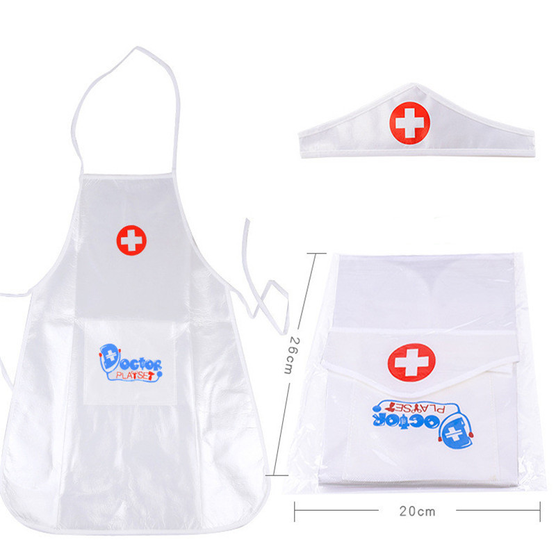 2018 Hot Sale 1set New Arrival Children Play Role Play Doctor Clothing Toys Baby Nurse Doctor Performing Christmas Toy Gift image