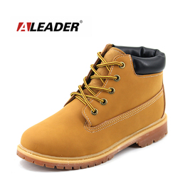 Unisex New 2016 Cheap Timber Ankle Boots hombre&Women Casual Warm Martin Boots Outdoor Fashion Lovers Sapatos Snow Fur Botas