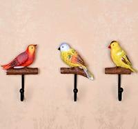 هوك النمط الرعوي الملونة ليتل الطيور جدار مخزن نوم الفنون جدار هوك معطف هوك الملابس الرف
