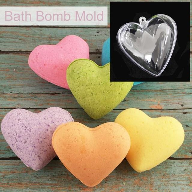 Mold In Shower Pan aliexpress : buy 6/8/10cm heart shaped ball bath salts mould