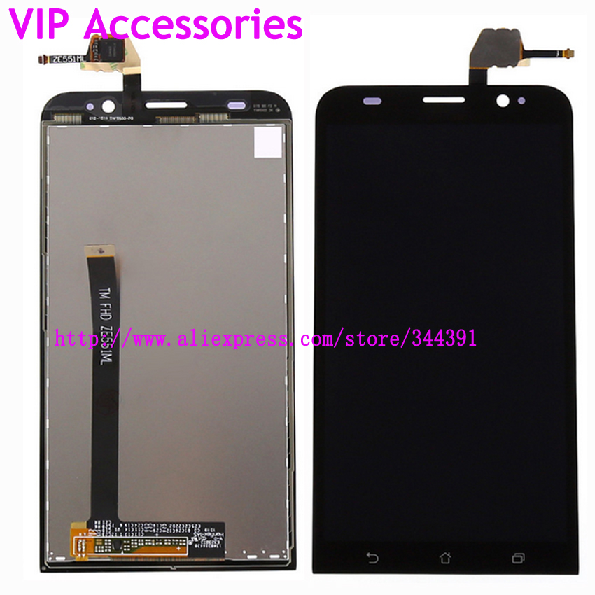 Original tested ZE551ML LCD For Asus Zenfone 2 ZE551ML 5 5 LCD Display Panel Touch Screen