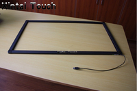 Free Shipping 10 Points 65 IR Multi Touch Screen Overlay Kit Usb Touch Screen Frame Panel