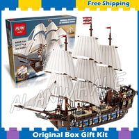 1717pcs Battle Ship Pirates of the Caribbean Imperial Flagship 39010 DIY Figure Building Blocks Toys Compatible with Lego