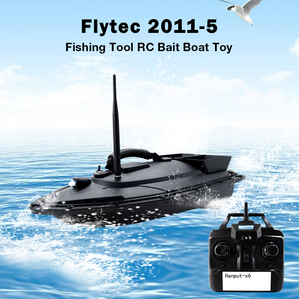Flytec HQ2011-5 RC Boat Intelligent Remote Control Nesting Boats Locating Fish Positioning 5.4km/H Dual Motor Outdoor Kit /RTR image