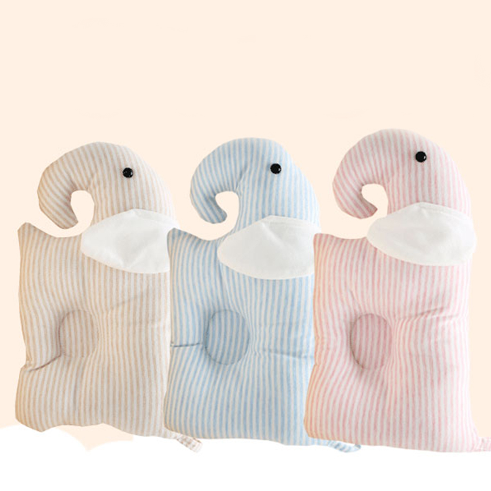 Infant Anti Roll Baby Pillow Comfortable Cotton Cushion Support To Prevent Flat Head And Neck