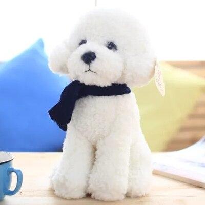 7325e08d440c Click here to Buy Now!! Belle accroupie caniche avec écharpe en peluche  jouet chien ...