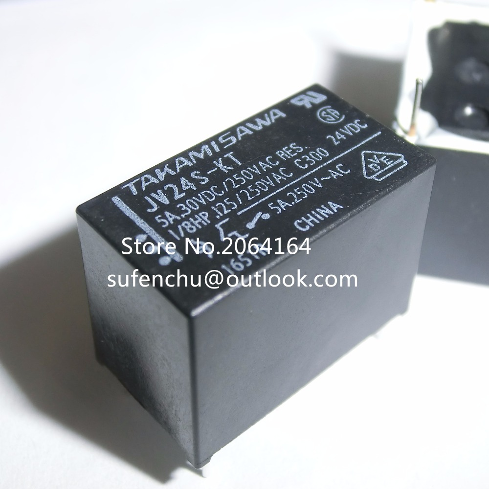 Hot New 10Pcs JV24S-KT JV-24S-KT 24V 24VDC DIP-4 5A 30VDC 250VAC 100% New Original Power Relay