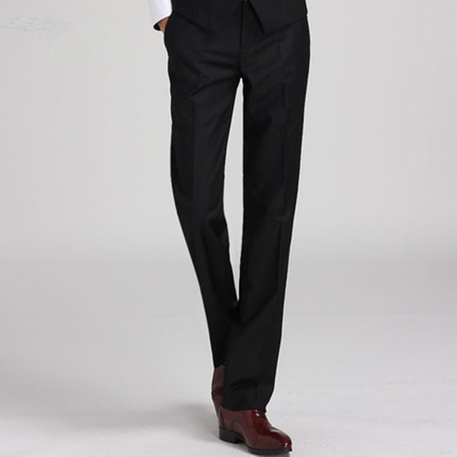 f6e8d47dd6c New Design Mens Suit Pants Black Sold Classy Slim Fit Dress Pant Quality  Men Formal Business