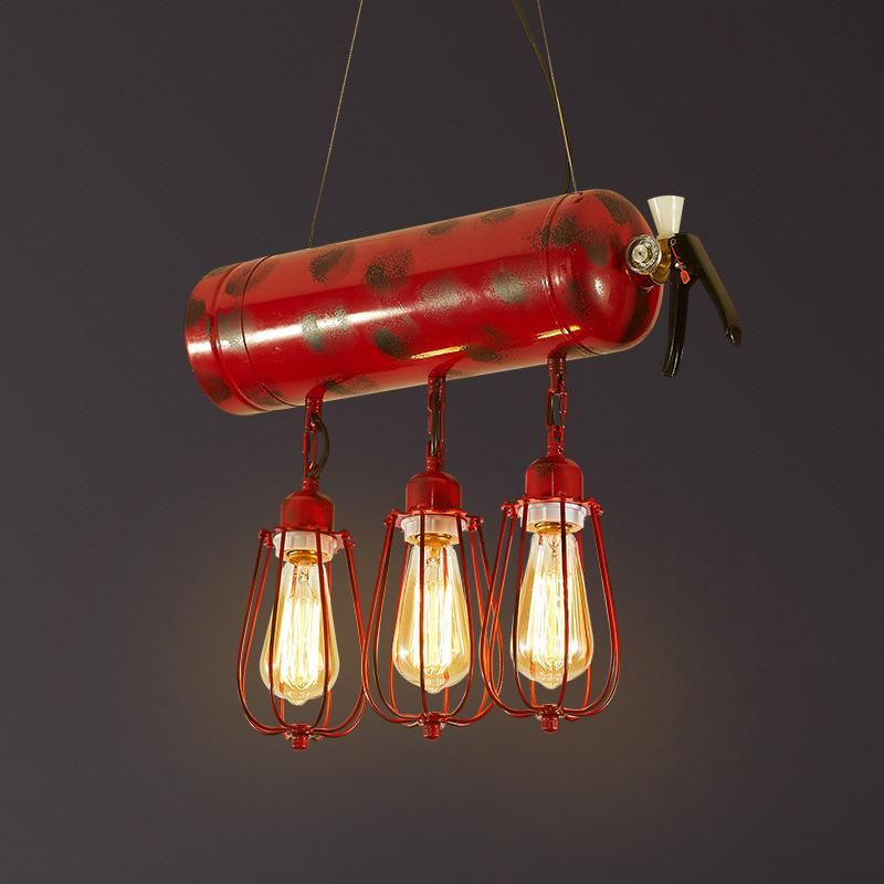 fire extinguisher pendant lights nostalgic LOFT restaurant bar coffee shop personalized home lighting pendant lamps GY317
