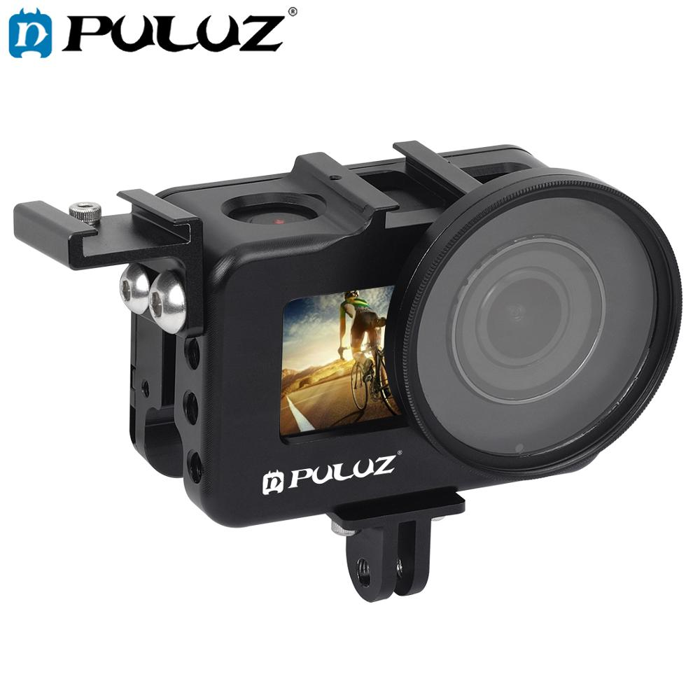 PULUZ Housing Shell CNC Aluminum Alloy Protective Cage Case with 52mm UV Lens for DJI Osmo Action Camera Accessories