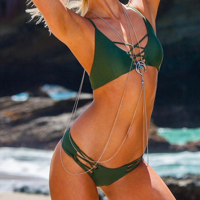 NAKIAEOI Sexy Brazilian Bikini Swimwear Swimsuit Bathing Suit Women Biquini 2017 Push Up Bikini Set Femme Beach Wear Swim Suit 1