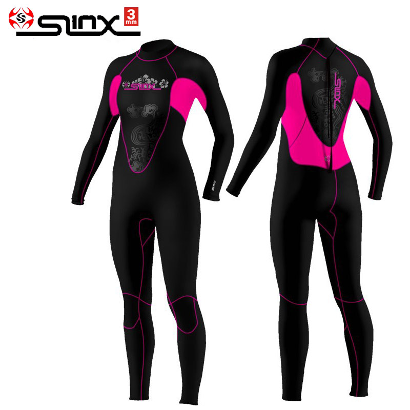 Brand Slinx 1102 Women Full Body Scuba Dive Wet Suit 3mm Neoprene Wetsuits Winter Swim Surfing
