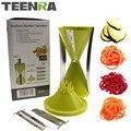 Спиральная овощерезка TEENRA  4 лезвия  спиральная терка для моркови  огурец  резак  кабачки 4 в 1  овощерезка