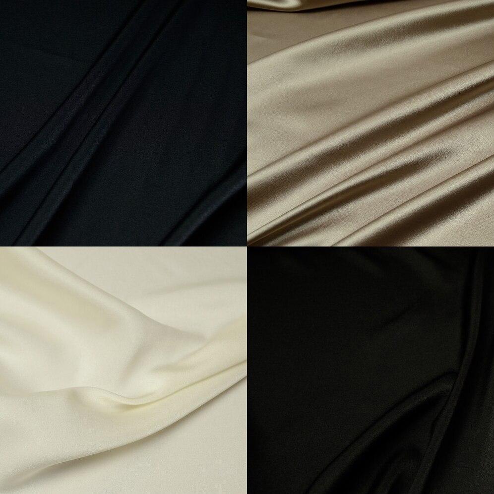 ae0c132b923f42 2015 Japanese high-grade Imitate Silk crepe No stretch opaque patchwork  Black white Blue Khaki