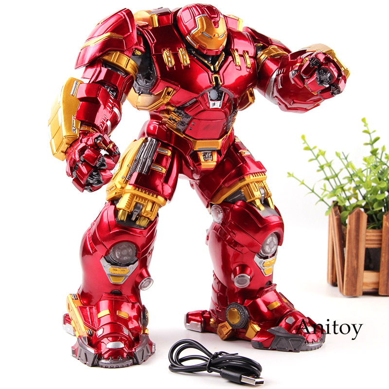 Marvel Avengers: Age of Ultron Mark44 Hulk Buster Hulkbuster Toy Lighting PVC Action Figure Collection Model Toys