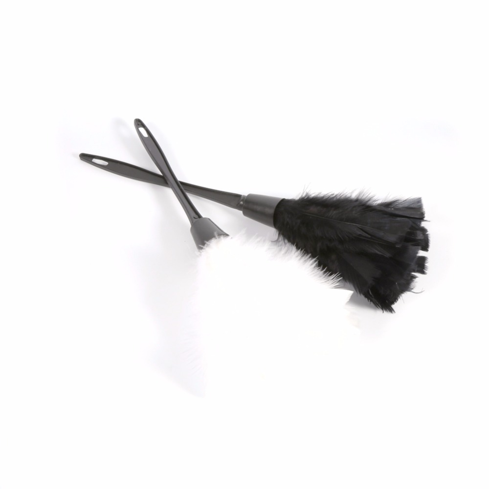 Furniture duster Cleaning Soft Turkey Feather Duster Brush With Black Handle For Home Furniture Car Book Cases Cleaning Tool Supplies White Black Colors Unitedglobalcargoinfo Soft Turkey Feather Duster Brush With Black Handle For Home