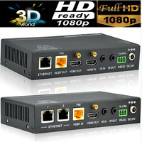 Profesionall 4 К HDMI HDBaseT Extender (RJ45 + HDMI петля) RS232 bi направления ИК управления, ТОЦ HDCP ЦИК 4 К x 2 К/60 м 1080 P/90 м (TX + RX)