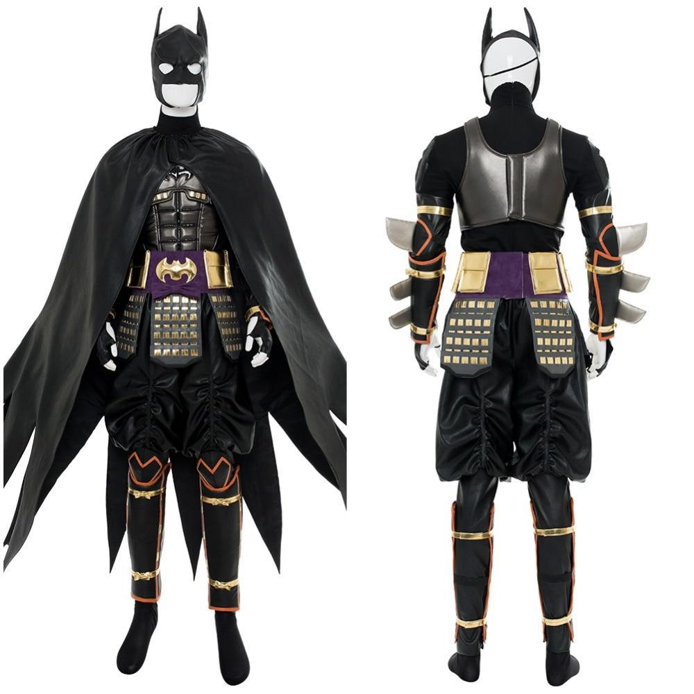 2018 Movie Batman Ninja Batman Outfit Suit Cape Cosplay Costume Action Figure Version