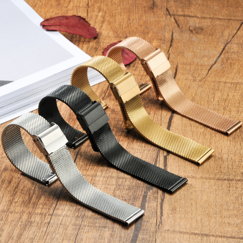 Watchbands Universal Stainless Steel Metal Watch Strap for Fossil Bracelet Wristbands Replacement 12mm 14mm 18mm 20mm 22mm 24mm mesh stainless steel watch band mens strap metal bracelet 12mm 14mm 16mm 18mm 20mm 22mm 24mm mens stainless steel watchbands