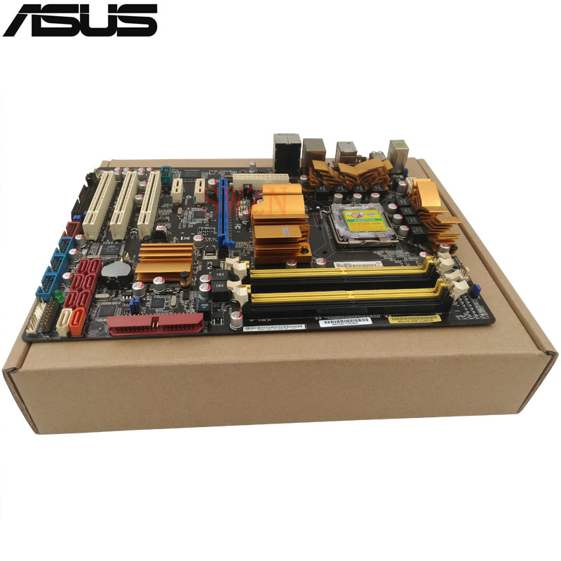 original Used luxury Desktop motherboard For ASUS P5Q P45 Support Socket LGA 775 Maximum DDR2 16GB SATA2 USB2.0 ATX asus g31m s support ddr2 775 pin integrated small board g31m g31 motherboard