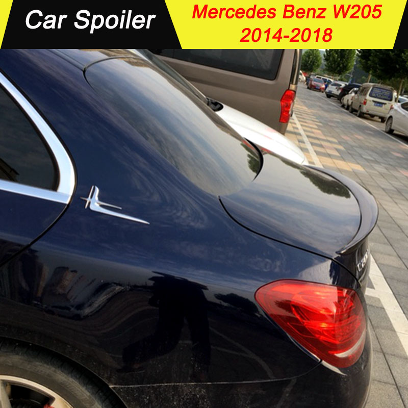 For <font><b>mercedes</b></font> w205 2014-2018 ABS <font><b>Spoiler</b></font> car tail wing decoration <font><b>rear</b></font> trunk <font><b>spoiler</b></font> for <font><b>Benz</b></font> W205 C180 C200 C260 C280 <font><b>C300</b></font> C63 image