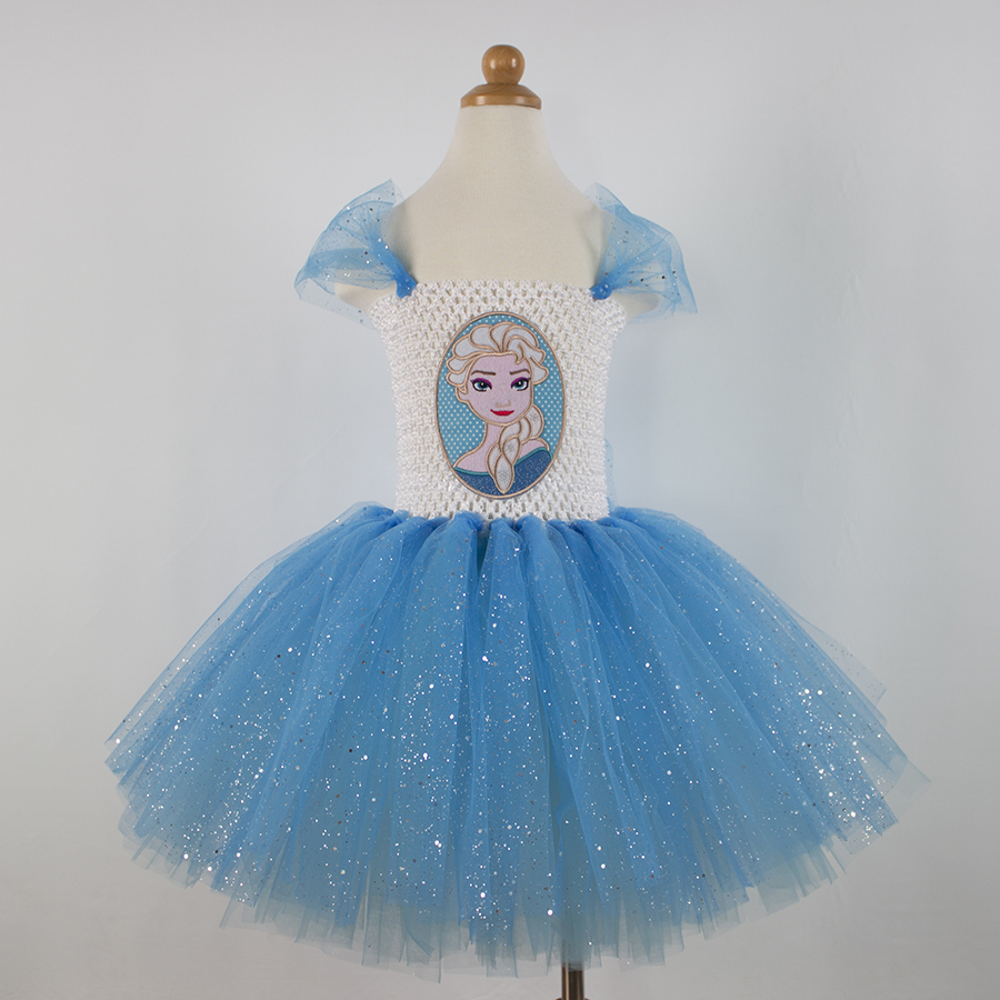 Подробнее о Girls Anna Elsa Dress Cosplay Costume Children Kids Princess Party Dresses Baby Girl Tulle Tutu Dress Robe Enfant Vestidos 2-12Y cosplay girl dress princess sofia dress children girls costume party dress kids tutu dresses 3 7 years old baby costumes