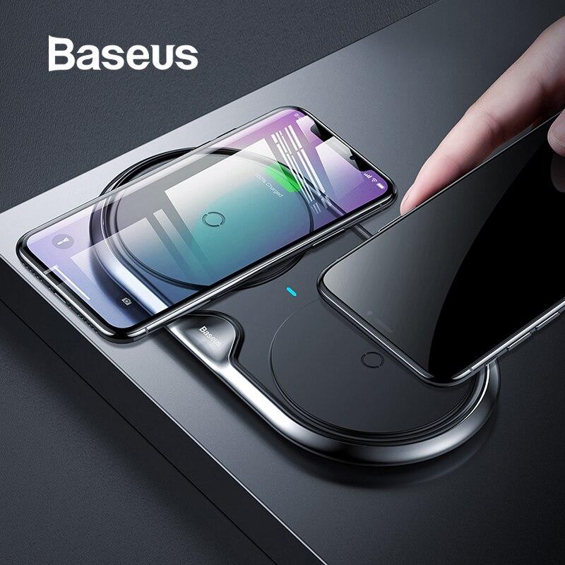 Chargeur sans fil double métal Baseus pour iPhone Xs Xs Max XR chargeur de charge sans fil rapide de bureau pour Samsung Note9 S9