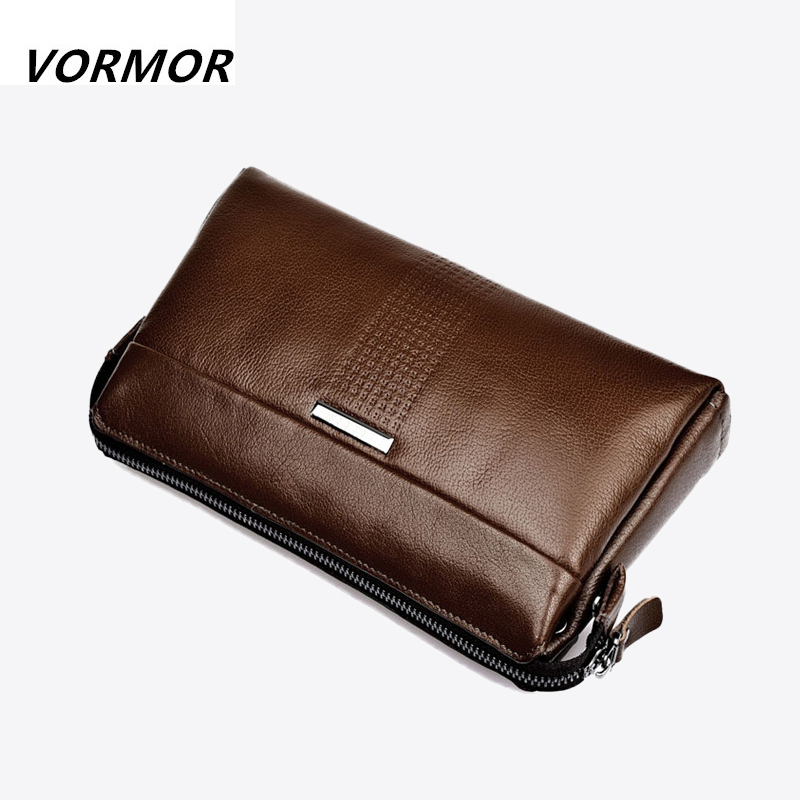 Inventory Cleaning 100% Genuine Leather Wallet Cowhide Men Clutch Bag