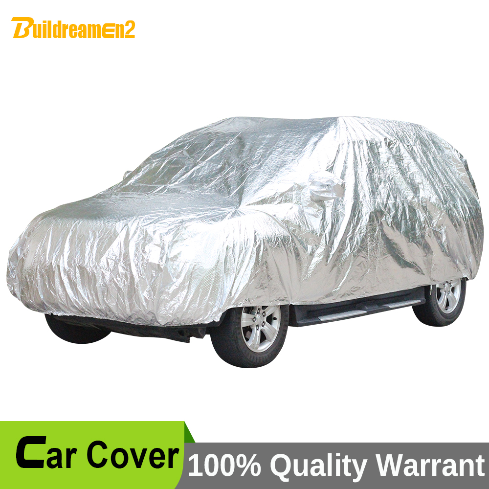 Buildreamen2 Waterproof Car Cover Thicken Case Sunshade Car Anti UV Sun Rain Snow Hail Resistant Protective