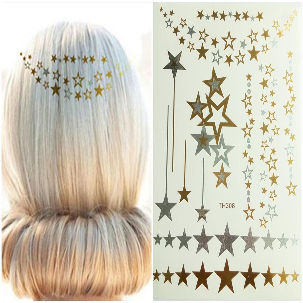 Hair Tattoo Flashing Golden Hair Braider