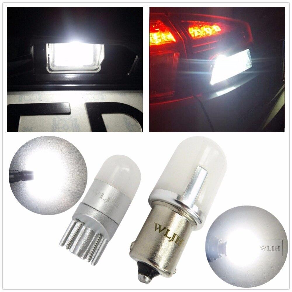WLJH Auto Voiture T10 W5W LED P21W 1156 Ba15s LED Ampoule 3030SMD Nombre de LED Lampe de Plaque D'immatriculation Arrière Back Up Light Pour Ford Focus