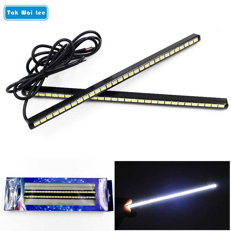 Tak Wai Lee 2Pcs/Set DRL LED Daytime Running Lights 20.5CM 30SMD Car Day Light Source Styling DC12V Waterproof White Lamp tak wai lee 1pcs usb led mini wireless car styling interior light kit car styling source decoration atmosphere lighting 5 colors