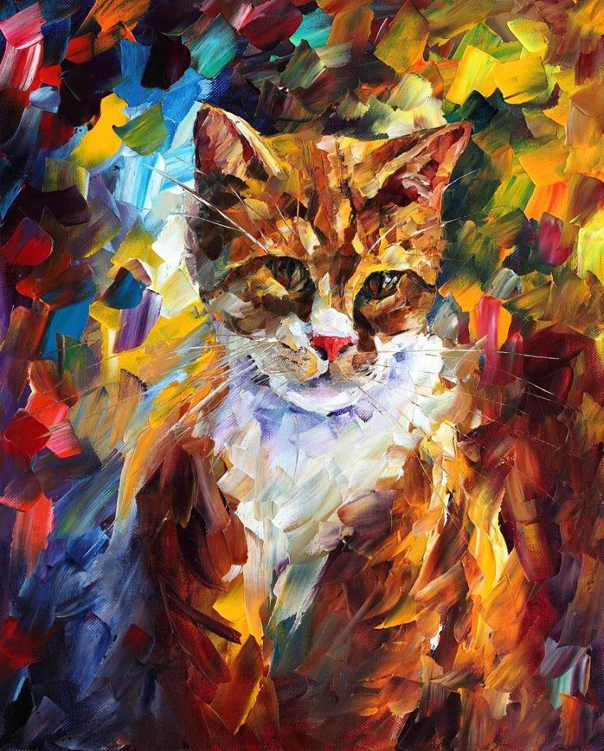 Fine watercolor art for sale - Painting For Sale Colorful Oil Paintings Canvas Cat Ii Abstract Modern Fine Art Home Decor High