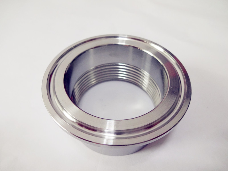 Free Shipping DN40  1.5'' (46mm)  Adapter For Heating Element ,Tri-clamp  2'',Stainless Steel304,Length 30mm