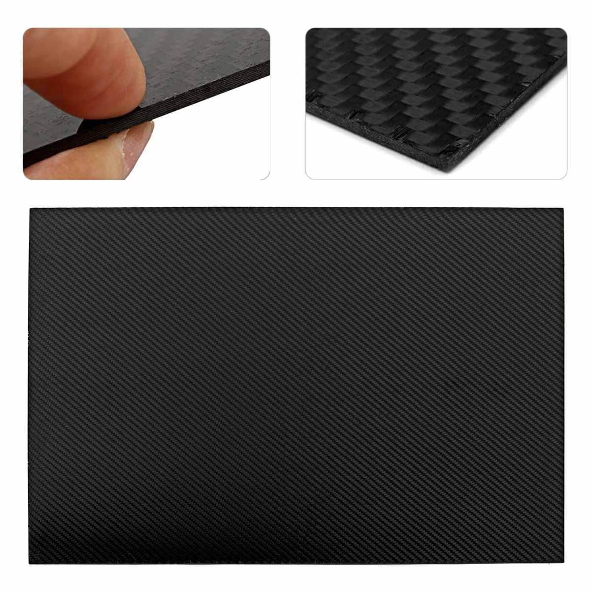 0.5mm 1mm 2mm 3mm 4mm 5mm grubość rzeczywistym płyta z włókna węglowego Panel arkuszy o wysokiej twardości kompozytowej materiał dla RC 400x500mm
