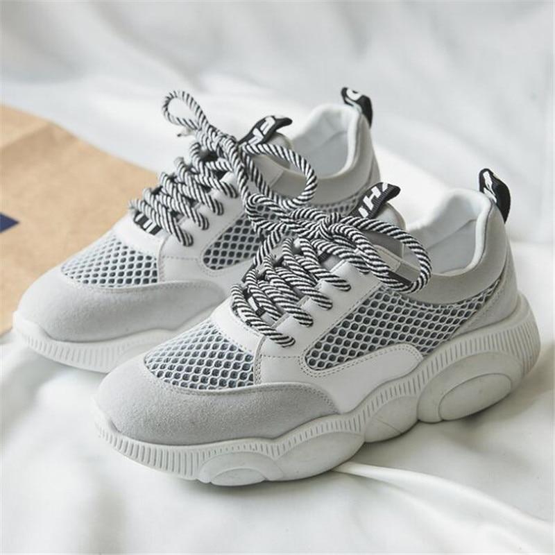 Spring new platform womens shoes mesh casual Calzado deportivo de mujer breathable fashion sneakers