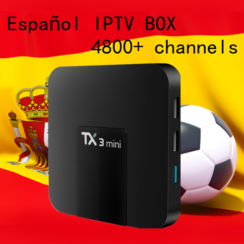 Europe Spain Spanish IPTV Box TX3MINI S905W 16G rom tv box android 7.1 TV Box Swedish Nordic IPTV Subscription Smart TV Box