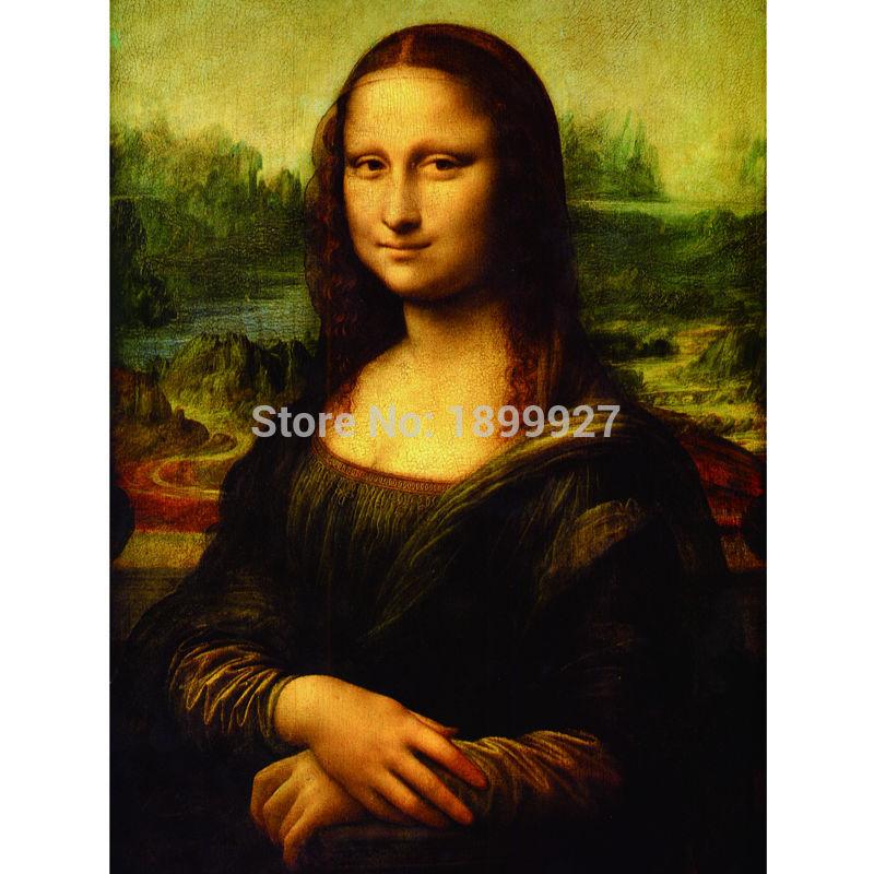 2017 Nya 5d Rhinestones Diy Mosaic Diamantmålning Korsstygn Square Resin Diamond Broderi Mona Lisa Figur Gratis frakt