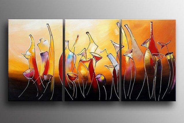 aliexpress.com: acheter peint à la main abstraite moderne de vin ... - Peinture Sur Toile Pour Cuisine
