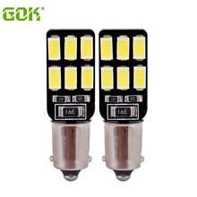 Светодиодная автомобильная лампа canbus BA9S, 10 шт./лот, бесплатная доставка, светодиодная лампа Canbus ba9s 194 T4W canbus BA9S 12smd 5630 5730, светодиодная лампа бе...