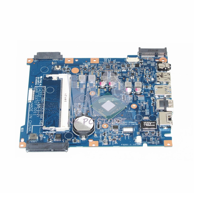 NBMRW11001 NB.MRW11.001 For Acer aspire ES1-512 Laptop Motherboard  448.03707.0011 SR1YW N3540 CPU DDR3 free shipping for acer tmp453m nbv6z11001 ba50 rev2 0 motherboard hm77 tested