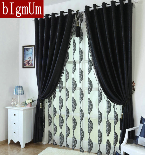 Beaded Curtains In Black Eco Friendly Embossed Full Cut Flower Yarn Black  Beauty Sheer/ Part 53