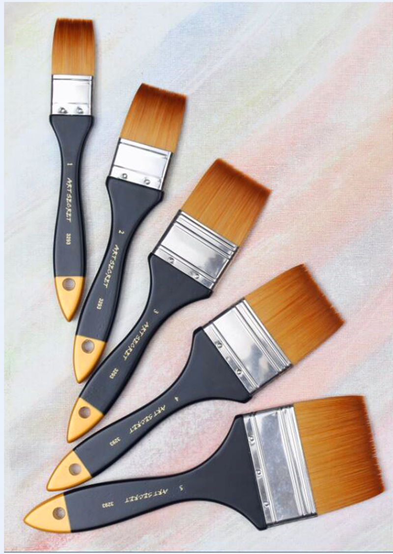 3293 High Quality Korea Importing Synthetic Hair Brass Ferrule Wooden Handle Multifunctional Art Supplies Paint Artist Brush
