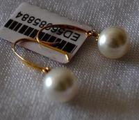 Free Shipping Charm Pair Of 11 12mm South Sea Rose Gold Pearl Silver Earring