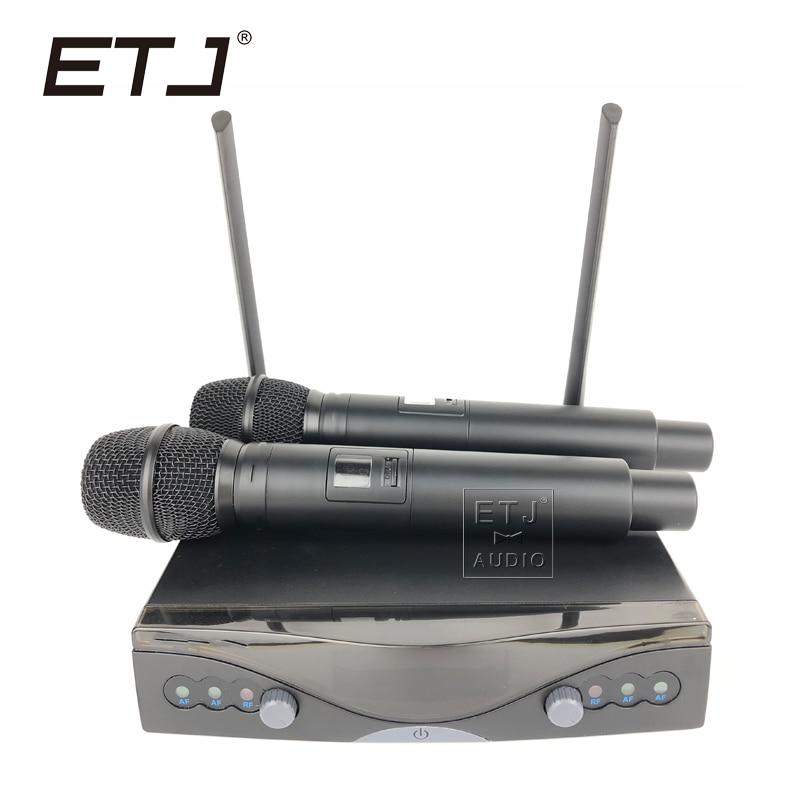 все цены на ETJ Brand Double Handheld Wireless Microphone Fixed UHF Dual Microphone U-802